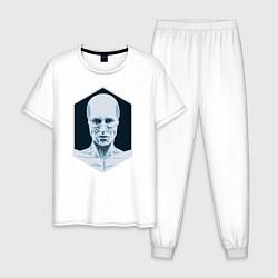 Пижама хлопковая мужская Westworld цвета белый — фото 1