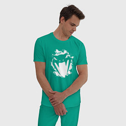 Пижама хлопковая мужская VENUM цвета зеленый — фото 2