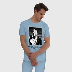 Пижама хлопковая мужская Tony Stark цвета мягкое небо — фото 2