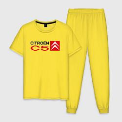 Пижама хлопковая мужская CITROEN C5 цвета желтый — фото 1
