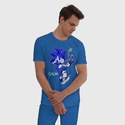 Пижама хлопковая мужская Sonik цвета синий — фото 2