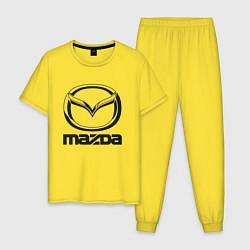 Пижама хлопковая мужская MAZDA LOGO цвета желтый — фото 1