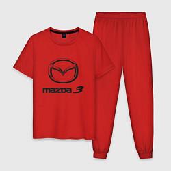 Пижама хлопковая мужская MAZDA 3 Black цвета красный — фото 1