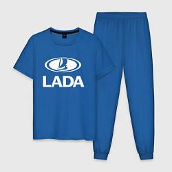 Пижама хлопковая мужская Lada цвета синий — фото 1