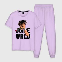 Пижама хлопковая мужская Juice WRLD цвета лаванда — фото 1