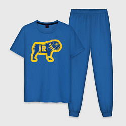 Пижама хлопковая мужская GO BULLDOGS цвета синий — фото 1