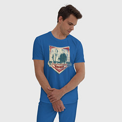 Пижама хлопковая мужская Join The Hunt цвета синий — фото 2