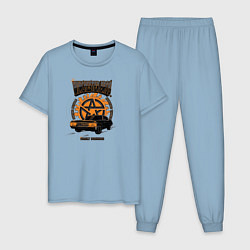 Пижама хлопковая мужская Winchester Bros цвета мягкое небо — фото 1