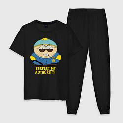 Пижама хлопковая мужская South Park, Эрик Картман цвета черный — фото 1