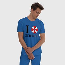 Пижама хлопковая мужская UMBRELLA CORP цвета синий — фото 2