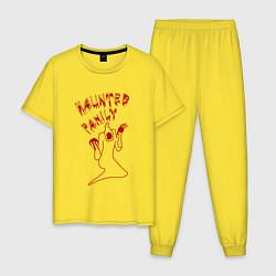 Пижама хлопковая мужская Kizaru цвета желтый — фото 1