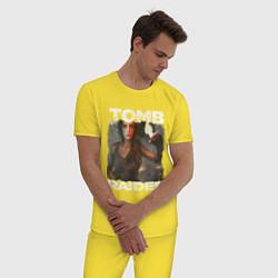 Пижама хлопковая мужская TOMB RAIDER цвета желтый — фото 2