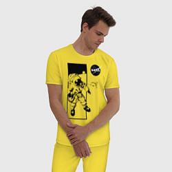 Пижама хлопковая мужская NASA цвета желтый — фото 2
