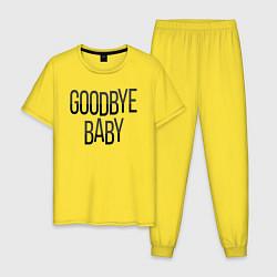 Пижама хлопковая мужская Goodbye цвета желтый — фото 1