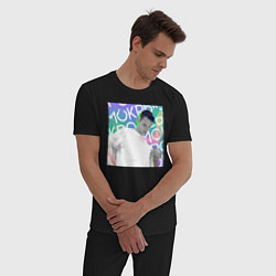Пижама хлопковая мужская Тима Белорусских цвета черный — фото 2
