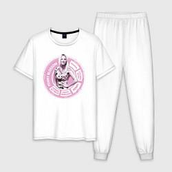 Пижама хлопковая мужская Penny цвета белый — фото 1