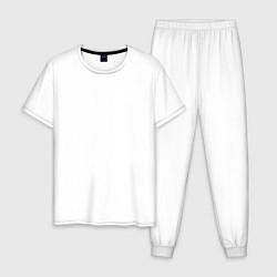 Пижама хлопковая мужская PAYTON LOVE цвета белый — фото 1