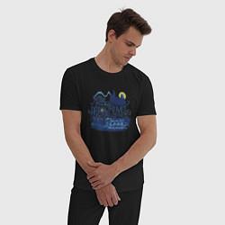 Мужская хлопковая пижама с принтом Гарри Поттер, цвет: черный, артикул: 10218696105937 — фото 2