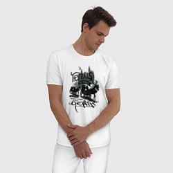 Пижама хлопковая мужская Гарри Поттер цвета белый — фото 2