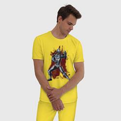 Пижама хлопковая мужская Caiber Sub Zero цвета желтый — фото 2