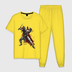 Пижама хлопковая мужская Scorpion цвета желтый — фото 1