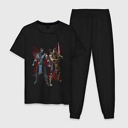 Пижама хлопковая мужская Sub-Zero and Scorpion цвета черный — фото 1