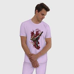 Пижама хлопковая мужская Scorpion цвета лаванда — фото 2