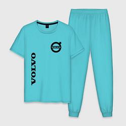 Пижама хлопковая мужская VOLVO цвета бирюзовый — фото 1