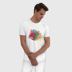 Пижама хлопковая мужская ДДТ Z цвета белый — фото 2