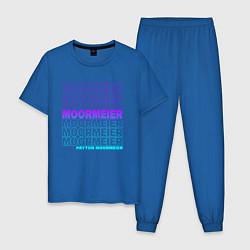 Пижама хлопковая мужская PAYTON MOORMEIER - ТИКТОК цвета синий — фото 1