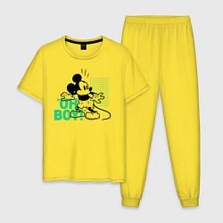 Пижама хлопковая мужская Oh boy! Mickey Mouse! цвета желтый — фото 1