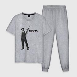 Пижама хлопковая мужская MAFIA 1 цвета меланж — фото 1