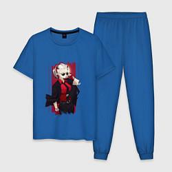 Пижама хлопковая мужская Justice Z цвета синий — фото 1