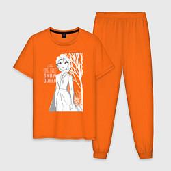 Пижама хлопковая мужская Snow Queen цвета оранжевый — фото 1