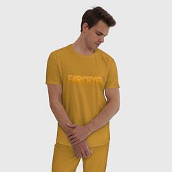 Пижама хлопковая мужская FAR CRY 6 цвета горчичный — фото 2