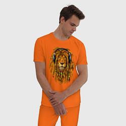 Пижама хлопковая мужская RastaLion цвета оранжевый — фото 2