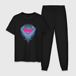 Пижама хлопковая мужская Superman цвета черный — фото 1
