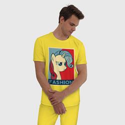 Пижама хлопковая мужская Trixie Fashion цвета желтый — фото 2