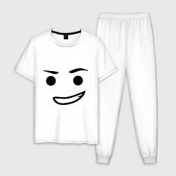 Пижама хлопковая мужская Emmet цвета белый — фото 1