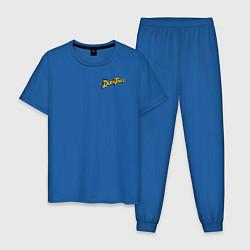 Пижама хлопковая мужская Scrooge McDuck цвета синий — фото 1