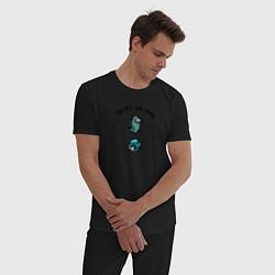 Пижама хлопковая мужская Among Us цвета черный — фото 2