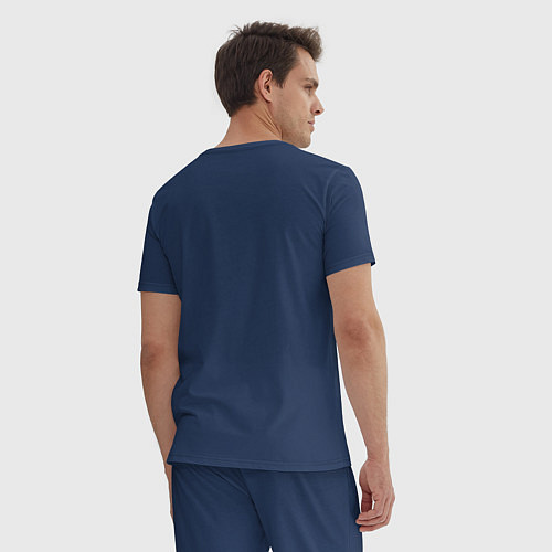 Мужская пижама Deadpool logo / Тёмно-синий – фото 4