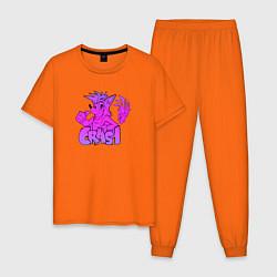 Пижама хлопковая мужская Crash Bandicoot Gradient цвета оранжевый — фото 1