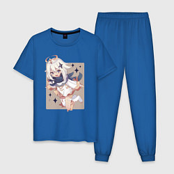 Пижама хлопковая мужская Paimon - Genshin Impact цвета синий — фото 1