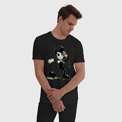 Пижама хлопковая мужская Bendy And The Ink Machine цвета черный — фото 2