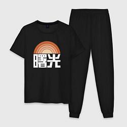 Пижама хлопковая мужская DESTINY 2 цвета черный — фото 1