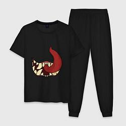 Пижама хлопковая мужская ГОЛОДНАЯ ПАСТЬ цвета черный — фото 1