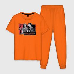 Пижама хлопковая мужская WandaVision цвета оранжевый — фото 1