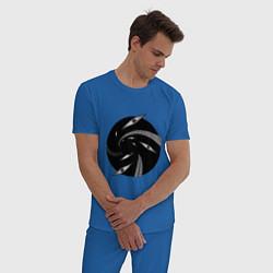 Пижама хлопковая мужская Стальной Алхимик цвета синий — фото 2
