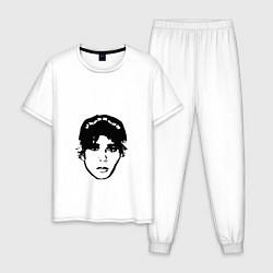 Пижама хлопковая мужская Slawa Marlow цвета белый — фото 1